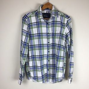 4/$25 American Eagle Plaid Small Button up